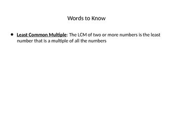 Least Common Multiple powerpoint