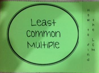 Least Common Multipler Foldable