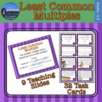 Least Common Multiples Task Cards