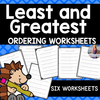 Least and Greatest Ordering Worksheets