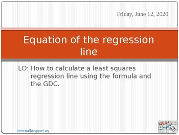 Least square regression