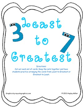 Least to Greatest