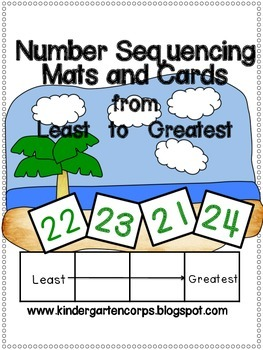 Least to Greatest - Number Sequencing Center (up to 120)