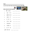 Least to Greatest Worksheet