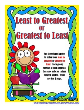 Least to Greatest or Greatest to Least - Apples