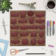 Leather Borders Clipart, Brown Leather Frames {Pretty Graphics}