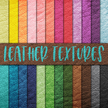 Leather Textures - Digital Paper Pack - 24 Different Papers - 12 x 12