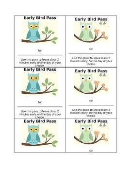 Incentive Passes (Editable)