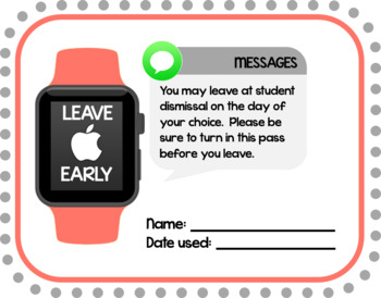 Leave Early Pass for teachers