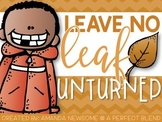"Leave No ""Leaf"" Unturned {Fall Language Activity Pack}"