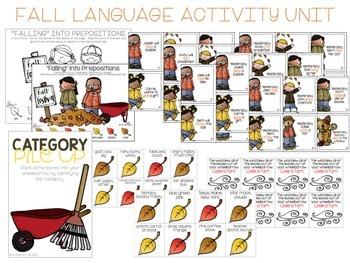 "Leave No ""Leaf"" Unturned {Fall Language Activity Pack}"