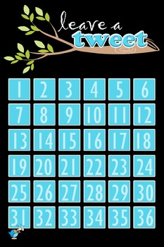 Leave a Tweet Ticket Out the Door Poster/Assessment