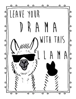 Leave your drama with this llama