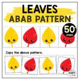 Fall Pattern Worksheets with Leaves AB Pattern