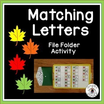 Leaves Matching Letters File Folder Activity