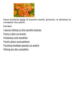 Leaves Acrostic Poem