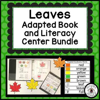Leaves Adapted Book and Literacy Center Bundle