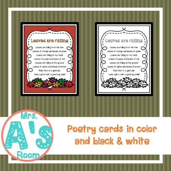 Leaves Are Falling Poetry Pack