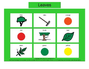 Leaves Bingo! [speech therapy and autism]