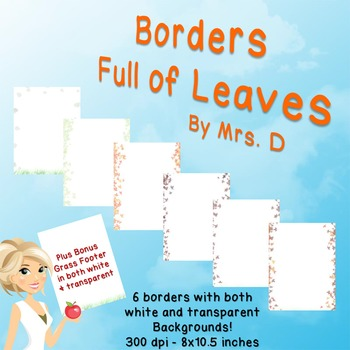 Leaves Borders - Commercial Use Okay