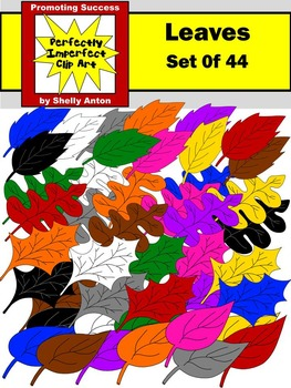 Autumn or Fall Leaves Clip Art Commercial Use August or Se
