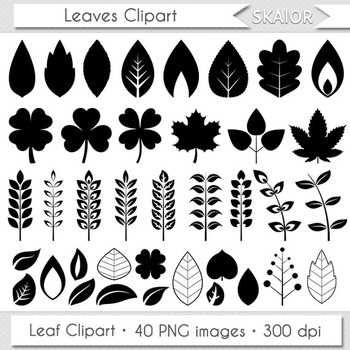 Leaves Clip Art Leaf Clipart Silhouette