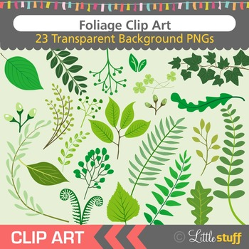 Leaves Clipart, Greenery Clip Art, Foliage, Plants, Vines