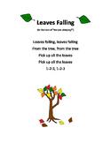 Leaves Falling Preschool Song FREEBIE