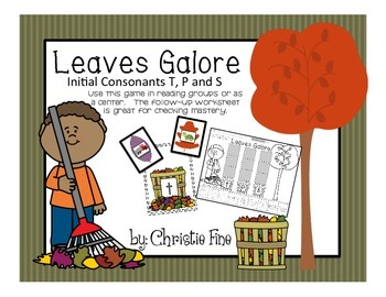 Leaves Galore Letter Sound Matching T, P, S