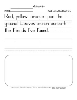 Leaves Handwriting Printable