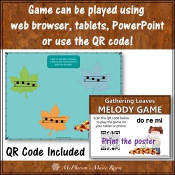 Fall Music Game: Do Re Mi Interactive Melody Game {Leaves}