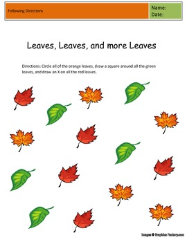 Leaves, Leaves, and More Leaves: Following Directions