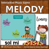 Solfege   Fall Music   Sol Mi Interactive Melody Game {Leaves}