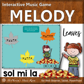 Fall Music Game: Sol Mi La Interactive Melody Game {Leaves}