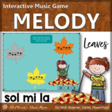 Solfege   Fall Music   Sol Mi La Interactive Melody Game {Leaves}