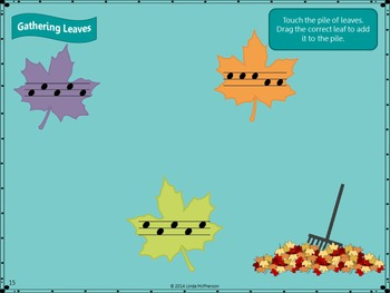 Leaves, Leaves and More Leaves: Smartboard Melody Game (Sol Mi)