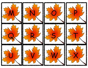 Leaves Letter Match