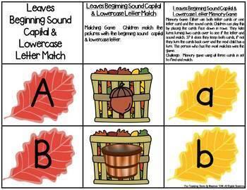 Leaves Letter & Sound Match