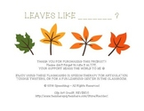 Leaves Like... L Articulation Practice!