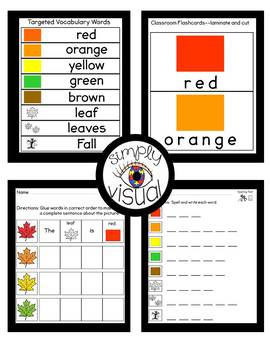 Leaves Literacy Center with Printable Activities