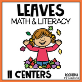 Leaves Math and Literacy Centers for Pre-K and Kindergarten