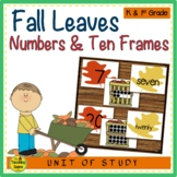 Leaves Numbers 0-25, Number Words & Ten Frames