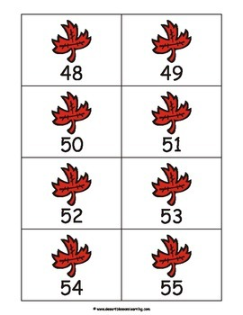 Leaves Numbers Matching Game & Flashcards: 0-100 eBook
