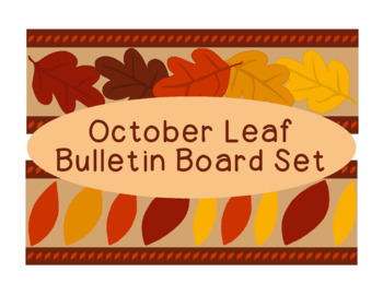 Leaves October Fall Autumn Bulletin Board Border Printable Full Color PDF