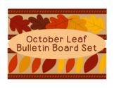 Leaves October Fall Autumn Bulletin Board Border Printable Full Color PDF