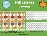 Leaves Pattern Cards & Student Worksheets (Printable manipulatives included)