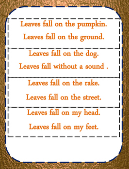 Leaves Poem for  Poetry Station