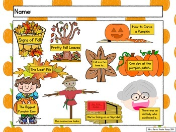 Leaves, Pumpkins, and Scarecrows Writing Journal