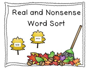 Leaves Real and Nonsense Word Sort