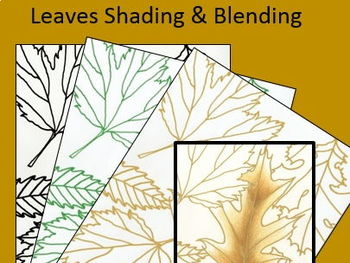 Leaves Shading Art Sub Lesson for Elementary and Middle School